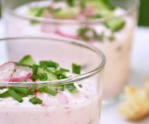 La recette simplicissme des verrines de radis et de chèvre frais