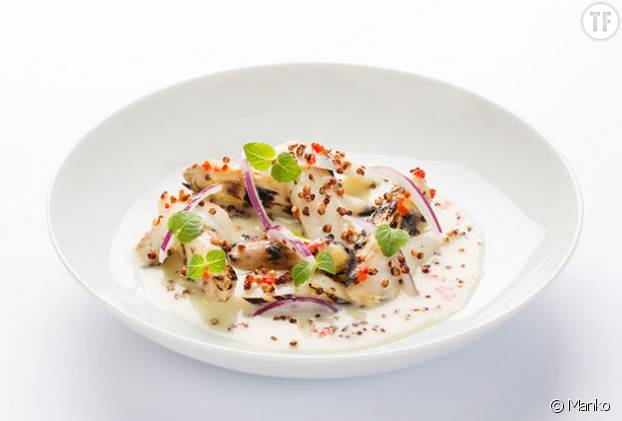 Ceviche d'asperges blanches