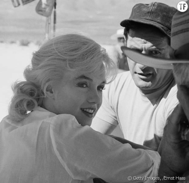 Marilyn Monroe en 1960 sur le tournage de The Misfits
