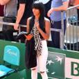 La chanteuse Shy'm au Monte Carlo Country Club pour le Monte-Carlo Rolex Masters de tennis, le 13 avril 2016