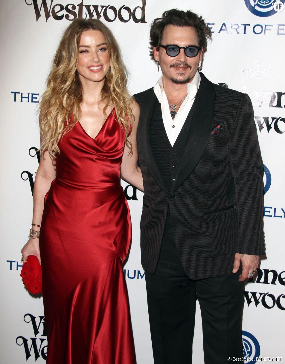 Johnny Depp et sa femme Amber Heard