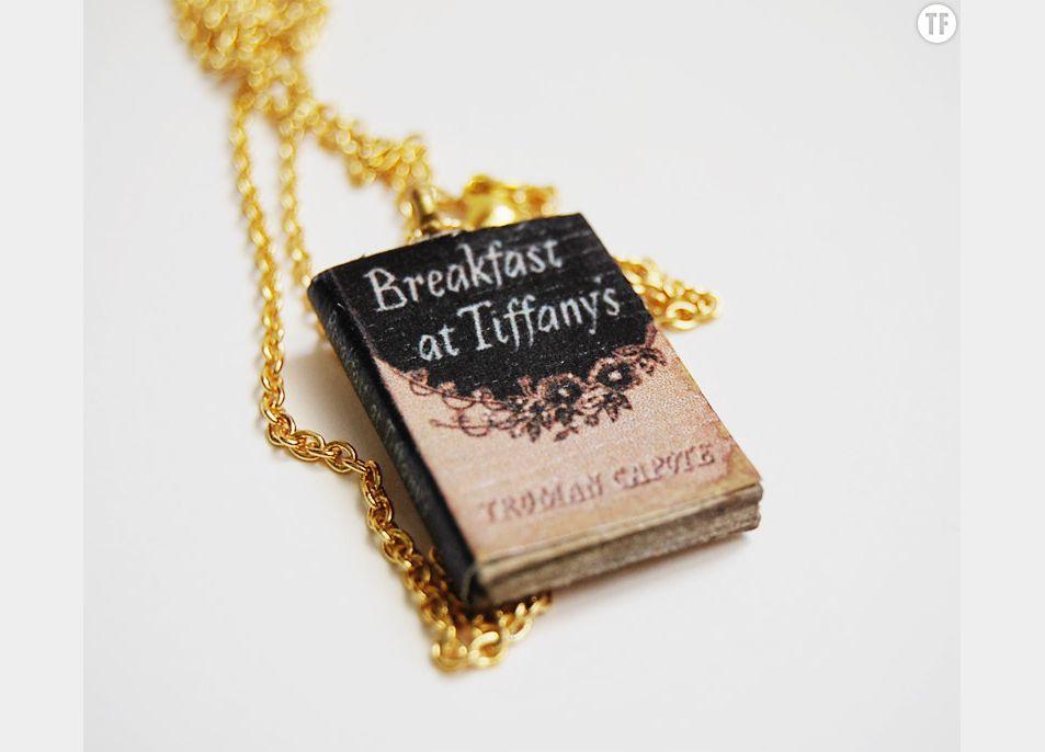Collier Petit-déjeuner à Tiffany sur Etsy, 18€