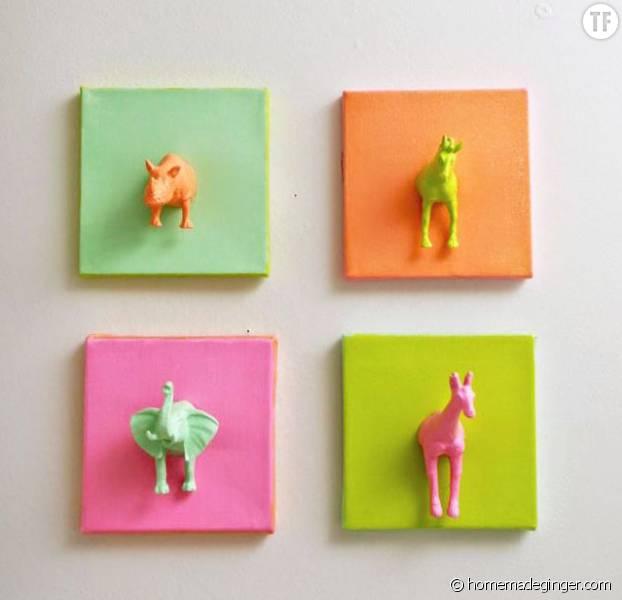 Diy kids comment fabriquer des cadres animaux - Fabriquer des cadres photos ...