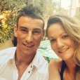 Laurent Koscielny, sa femme Claire et leurs enfants