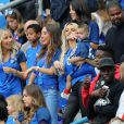 Sandra Evra au match d'ouverture de l'Euro 2016, France-Roumanie au Stade de France, le 10 juin 2016