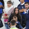 La compagne d'André-Pierre Gignac et ses enfants au match de l'Euro 2016 France-Albanie au Stade Vélodrome à Marseille, le 15 juin 2016