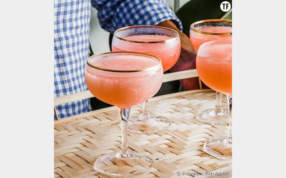 La recette du frosé, le cocktail glacé au vin rosé