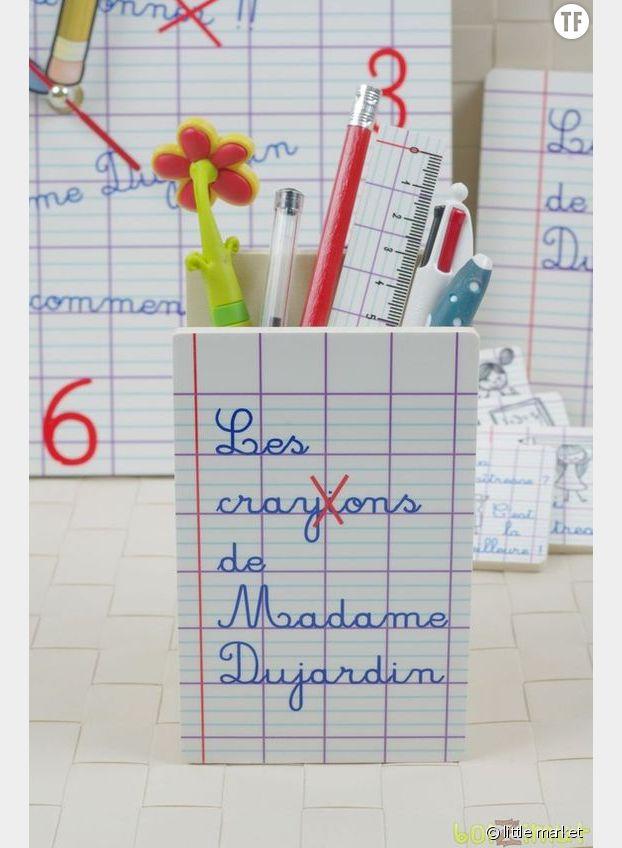 Un pot à crayons personnalisé, little market, 18,90 euros
