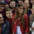 Antonella Roccuzzo (compagne de Lionel Messi) - Le FC Barcelone remporte la Coupe du Roi contre Séville et s'offre le doublé à Madrid en Espagne le 22 mai 2016