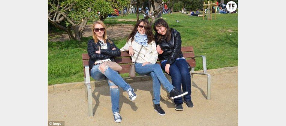 La dernière obsession du Net : la photo des trois femmes assises sur un banc (en apparence...)