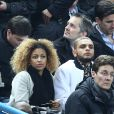 Layvin Kurzawa et sa compagne au Stade au France en mars 2015