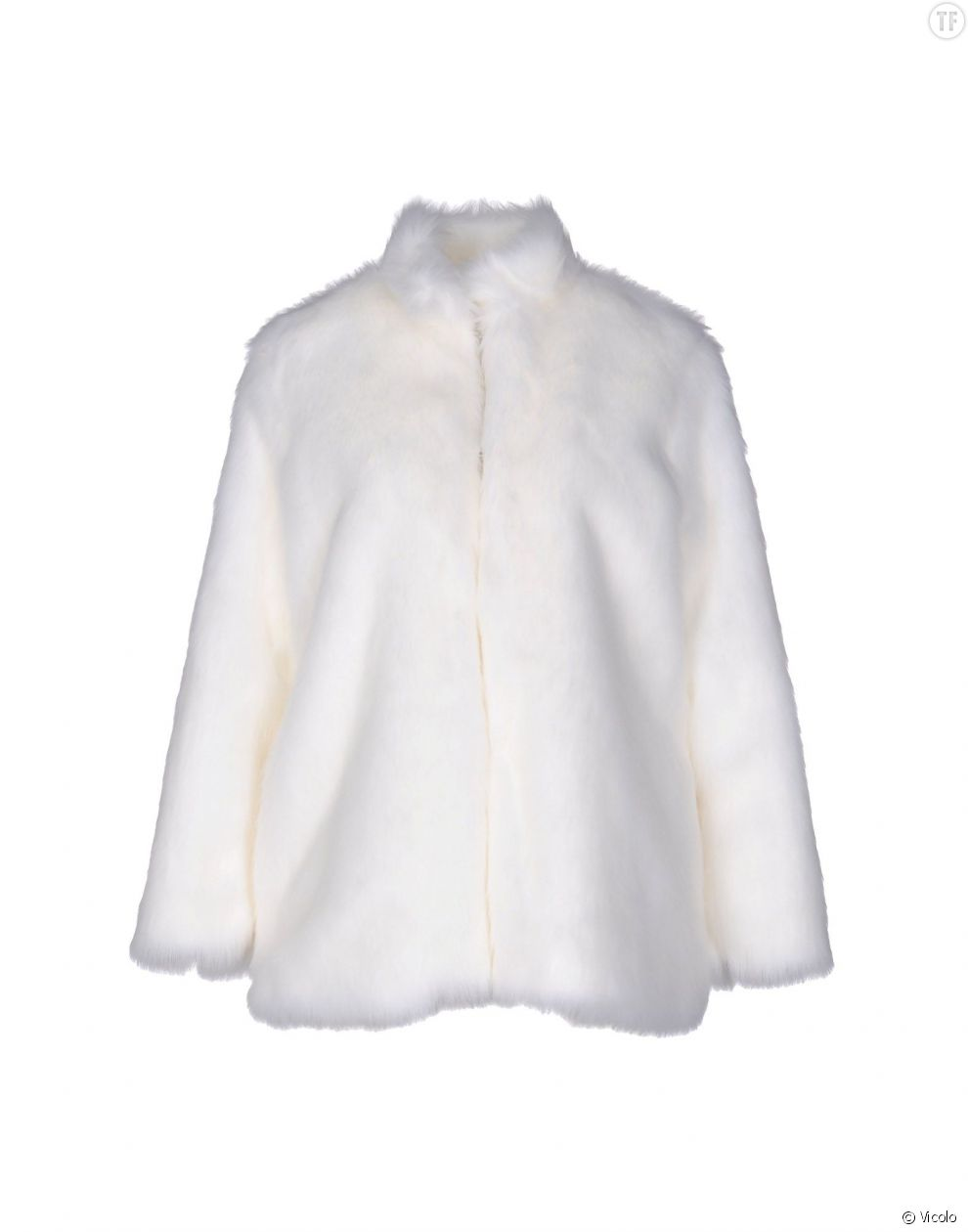 Manteau blanc en fausse fourrure Vicolo 76 euros
