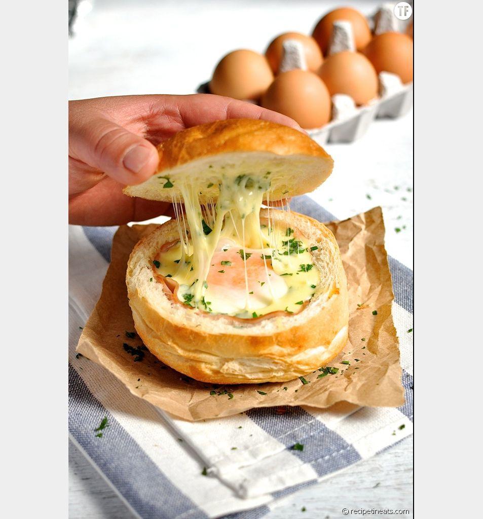La recette du bol de pain au jambon, oeuf et fromage