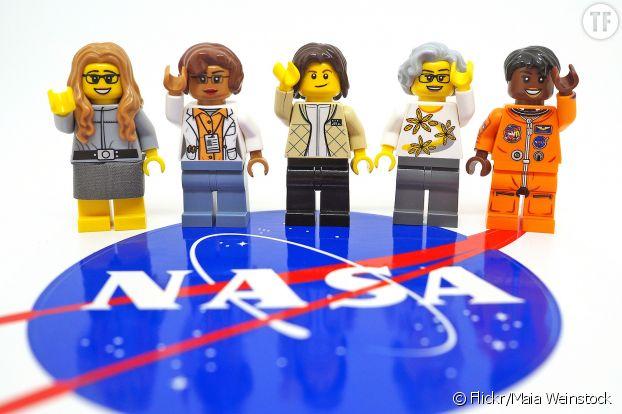 Les cinq figurines de la Nasa commercialisées par Lego