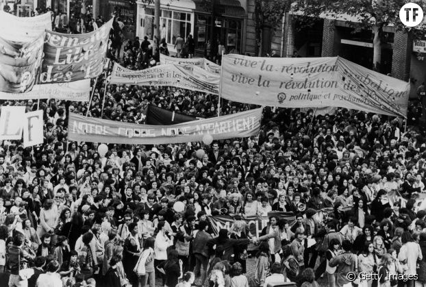 Manifestation le 6 octobre 1979 pour la reconduction de la loi Veil