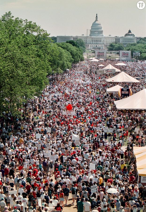 La Million Mom March en mai 2000