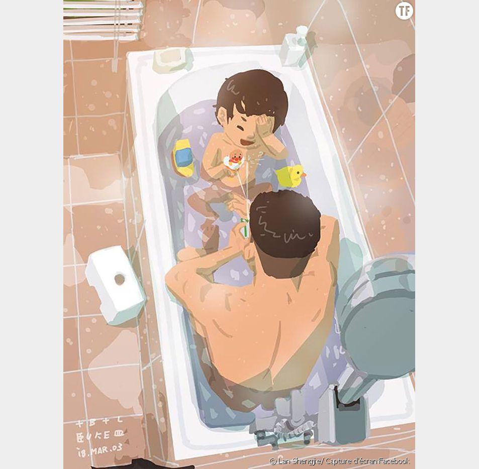 Ce papa célibataire dessine sa vie quotidienne, et c'est adorable