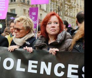 Muriel Robin et Eva Darlan à la marche Nous Toutes le 24 novembre 2018