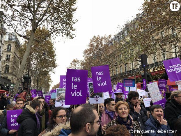 Des hommes à la manifestations #NousToutes