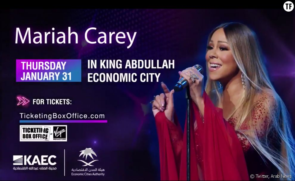 Mariah Carey se produira en Arabie saoudite à l'occasion du tournoir de golf Saudi international.
