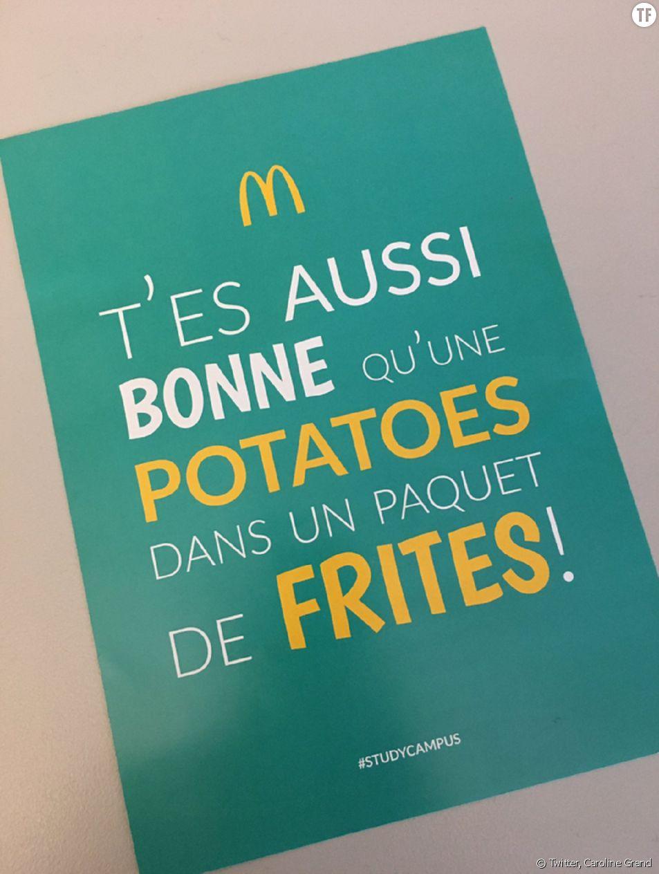 La publicité sexiste McDo de La Rochelle
