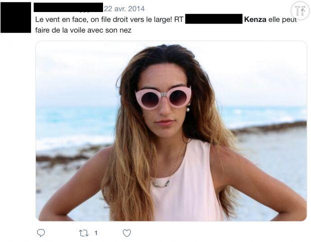 Un des tweets reçus par Kenza Sadoun El Glaoui