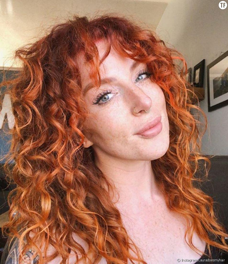 Cheveux Boucles Comment Se Faire Une Frange Quand On A Les Cheveux Frises Terrafemina