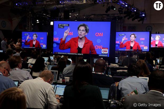 Elizabeth Warren au débat des primaires.