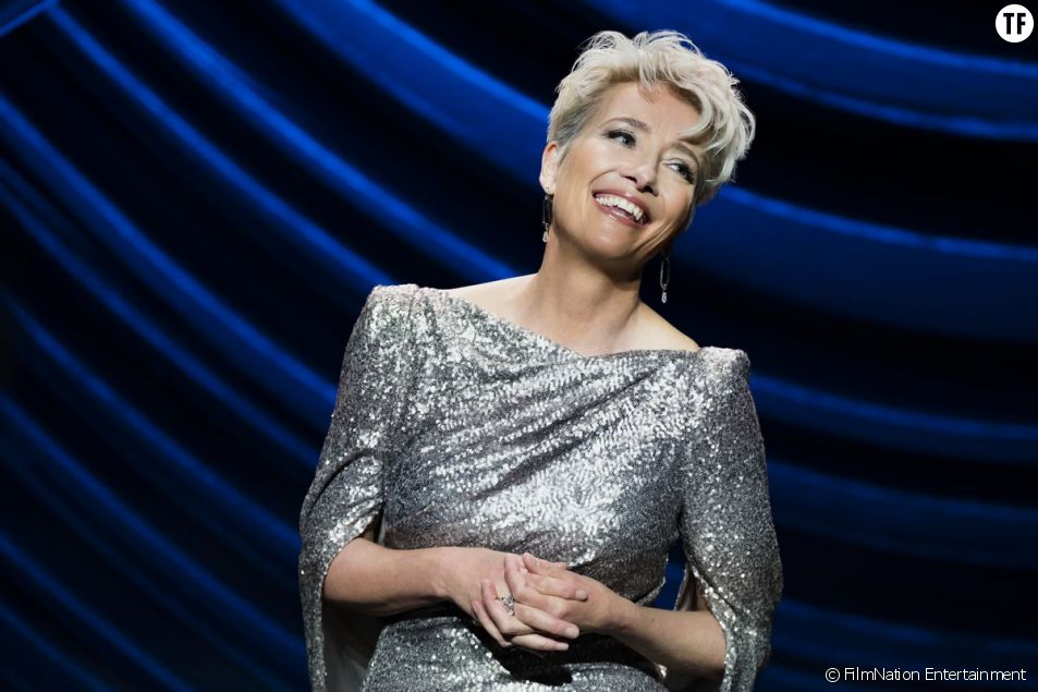 "La royale Emma Thompson dans ""Late Night"""