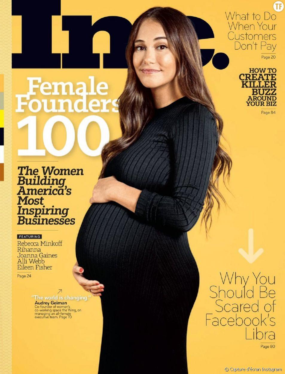 Audrey Gelman, PDG enceinte et fière de l'être.