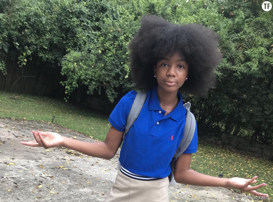 Cette fillette célèbre ses cheveux naturels dans une vidéo virale