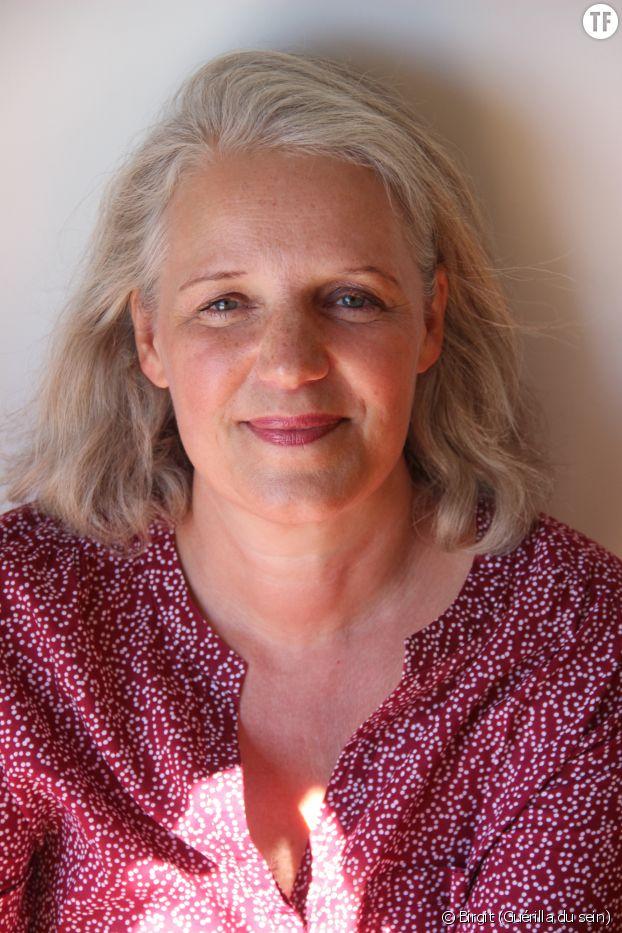 "Birgit, la narratrice du podcast ""Guérilla du Sein""."