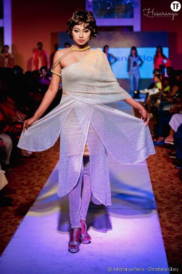 """Le défilé """"Christiana Glory"""" à la Fashion Week de Ceylon."""