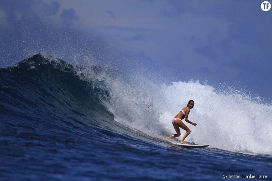 La surfeuse Frankie Harrer