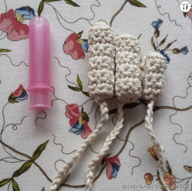 Tampons en crochet vendus par Lady Garden Crochet sur Etsy