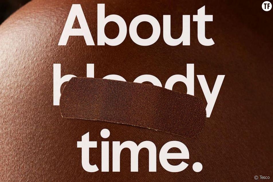"""La campagne """"It's about bloody time"""" des pansements de Tesco"""