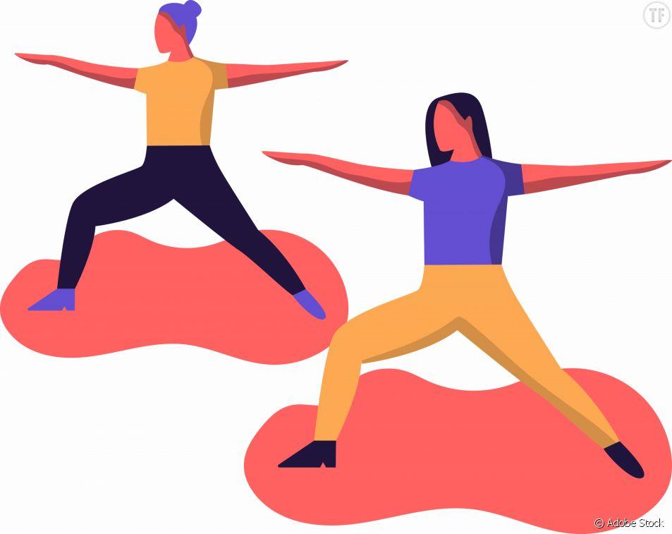 Posture de yoga du guerrier 2