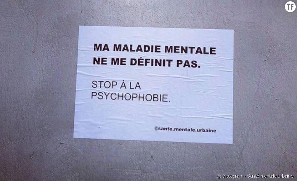 """Les collages militants de """"Santé mentale urbaine"""""""