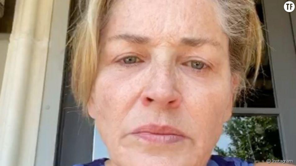 Sharon Stone en colère contre les anti-masque et Donald Trump