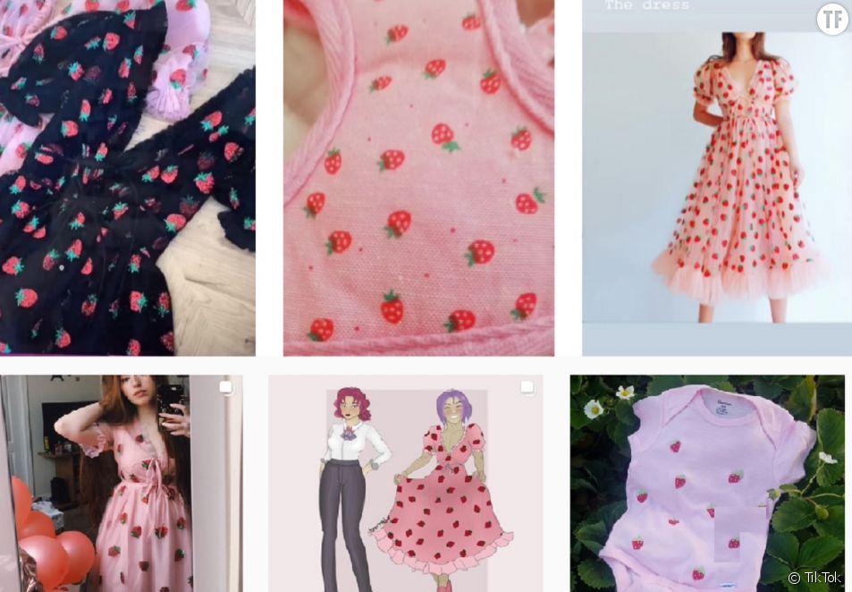 """Sur TikTok, la """"robe à la fraise"""" fait fureur. Quitte à en exclure certaines ?"""