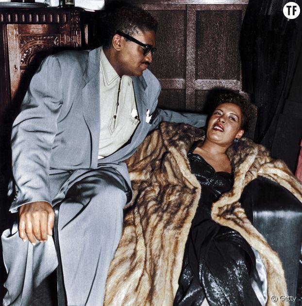 Billie Holiday en manteau de fourrure
