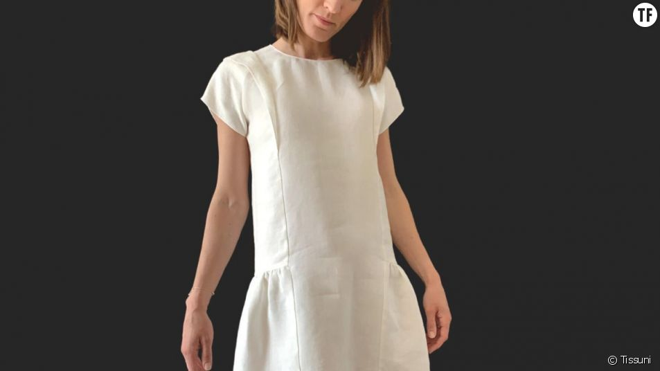 La petite robe verte de Tissuni est blanche, l'une des couleurs les moins toxiques.