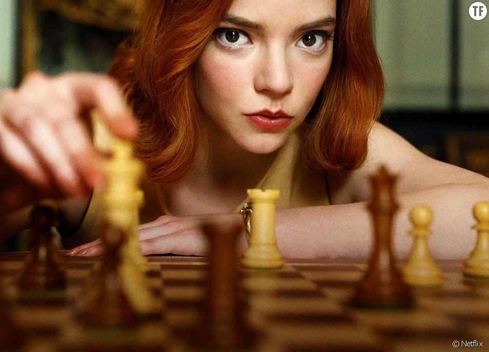 """Anya Taylor‑Joy, actrice de la série Netflix """"Le jeu de la dame"""", qui relance l'engouement des échecs."""