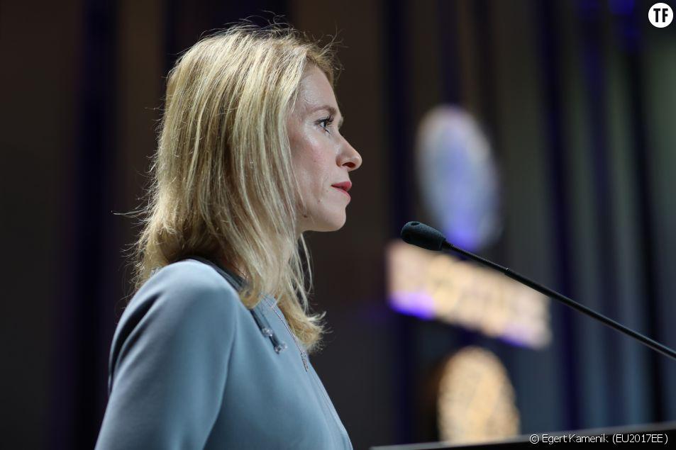 La Première ministre de l'Estonie Kaja Kallas