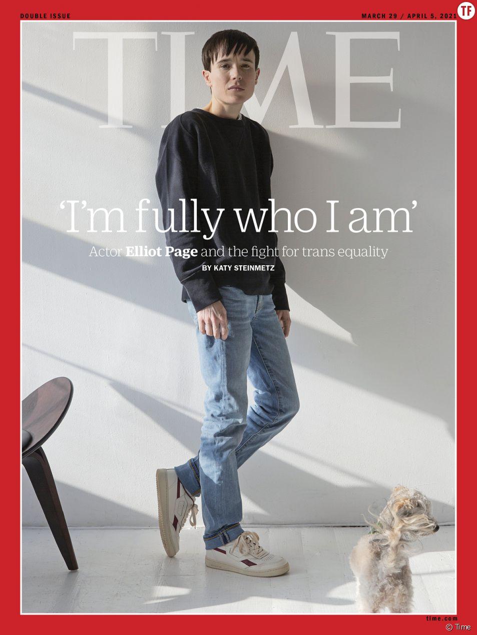 """Elliot Page en Une du magazine """"Time"""", une couverture et un témoignage qui comptent."""