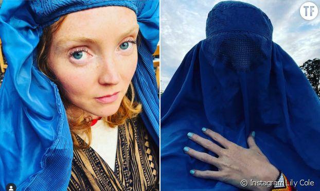 Le selfie de Lily Cole en burqa