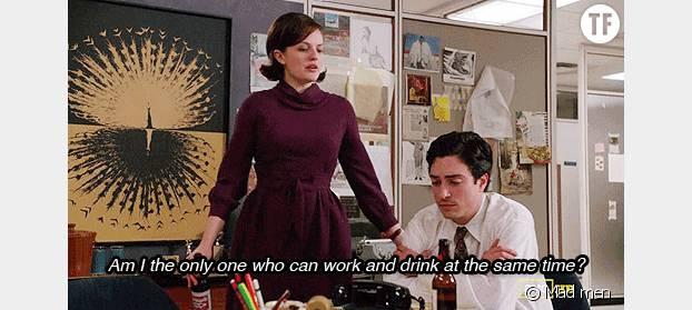 Peggy, la secrétaire de Don Drapper dans Mad Men