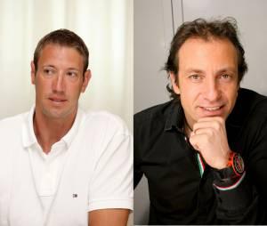 Le nageur Alain Bernard et le patineur artistique Philippe Candeloro