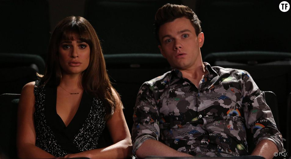 Lea Michele (Rachel Berry) et Chris Colfer (Kurt Hummel)