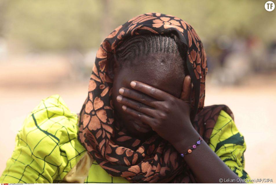 Une des jeunes filles qui faisait partie des centaines de lycéennes enlevées par Boko Haram en avril 2014.